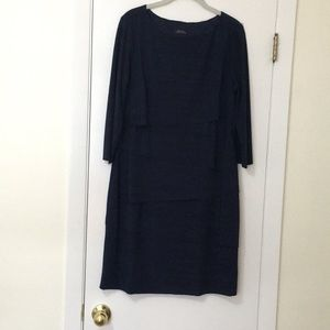 Navy blue Tahari dress size 12